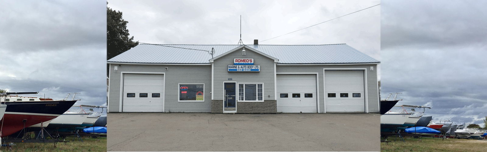Bienvenue chez / Welcome To Romeo's Marine & Autobody Ltd.