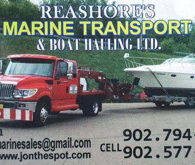 Reashore's Marine Transport & Boat Hauling Ltd.