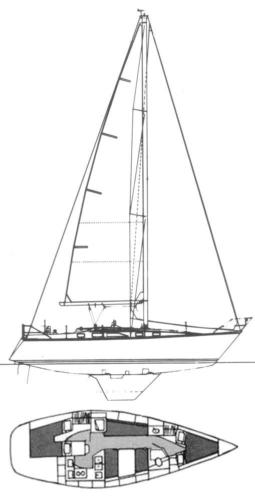 Hunter 34 drawing
